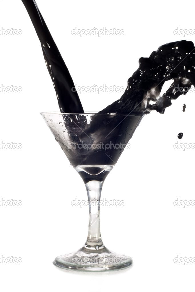 black water in glass